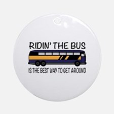Ridin the Bus Ornament (Round)