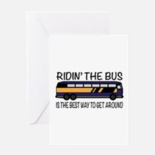 Ridin the Bus Greeting Cards