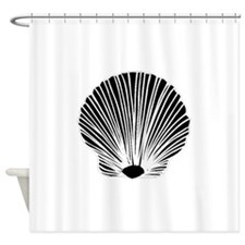 Sea Shell Silhouette Shower Curtain