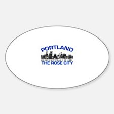 Portland . . . The Rose City Oval Decal