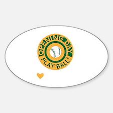 Unique Mlb baseball Sticker (Oval)