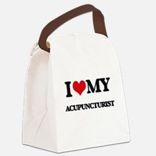 I love my Acupuncturist Canvas Lunch Bag