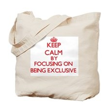 BEING EXCLUSIVE Tote Bag