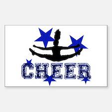 Blue Cheerleader Decal
