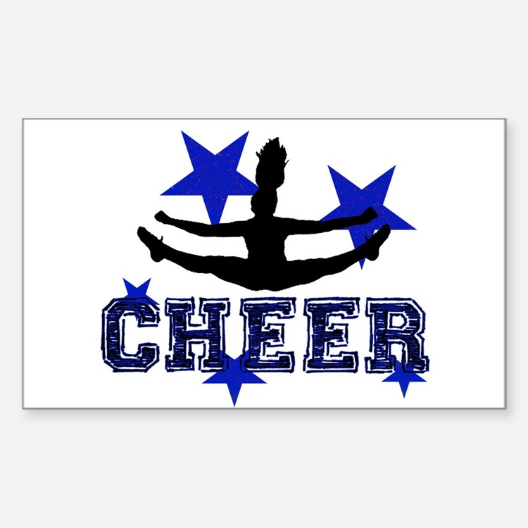 Blue Cheerleader Decal