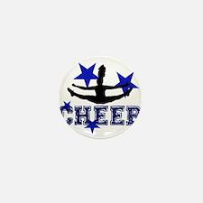 Blue Cheerleader Mini Button (10 pack)