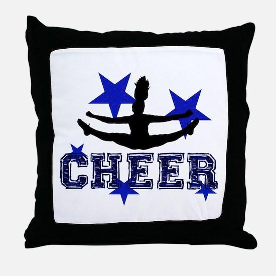 Blue Cheerleader Throw Pillow