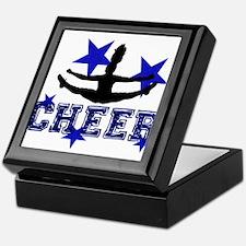 Blue Cheerleader Keepsake Box