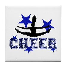 Blue Cheerleader Tile Coaster