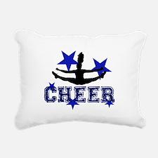 Blue Cheerleader Rectangular Canvas Pillow
