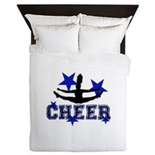 Blue Cheerleader Queen Duvet