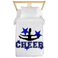 Blue Cheerleader Twin Duvet
