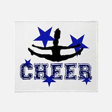 Blue Cheerleader Throw Blanket