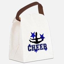 Blue Cheerleader Canvas Lunch Bag