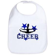 Blue Cheerleader Bib