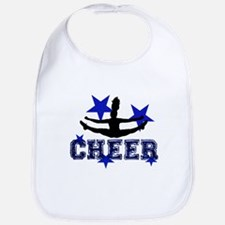 Blue Cheerleader Bib