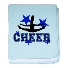 Blue Cheerleader baby blanket