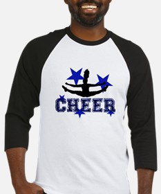 Blue Cheerleader Baseball Jersey