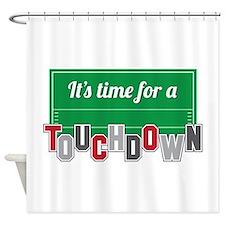A Touchdown Shower Curtain