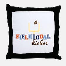Field Goal Kicker Throw Pillow