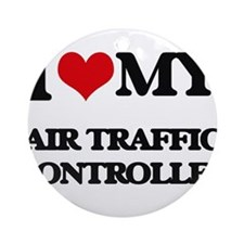 I love my Air Traffic Controller Ornament (Round)