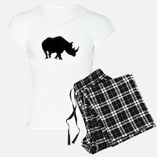 Rhino Silhouette Pajamas