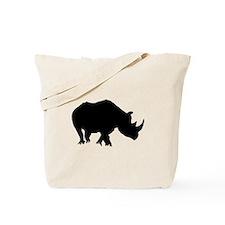 Rhino Silhouette Tote Bag