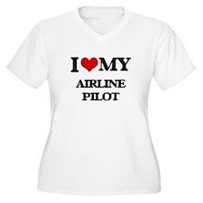 I love my Airline Pilot Plus Size T-Shirt