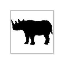 Rhinoceros Silhouette Sticker
