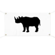 Rhinoceros Silhouette Banner