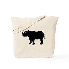 Rhinoceros Silhouette Tote Bag