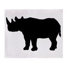 Rhinoceros Silhouette Throw Blanket