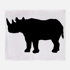 Rhinoceros Silhouette Throw Blanket