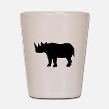 Rhinoceros Silhouette Shot Glass