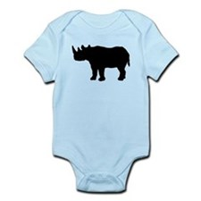 Rhinoceros Silhouette Body Suit