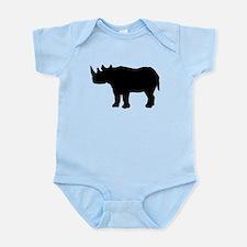Rhinoceros Silhouette Body Suit