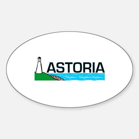 Astoria, Oregon Oval Decal
