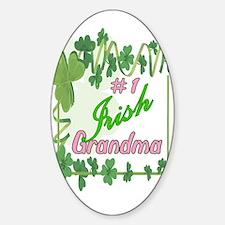 #1 IRISH GRANDMA Oval Decal
