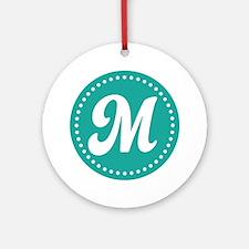 Letter M Ornament (Round)