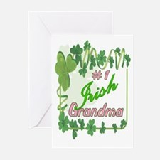 #1 IRISH GRANDMA Greeting Cards (Pk of 10)