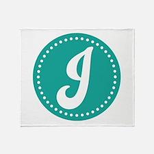 Letter J Throw Blanket