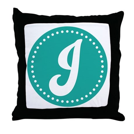 Letter J Throw Pillow by apronsforall
