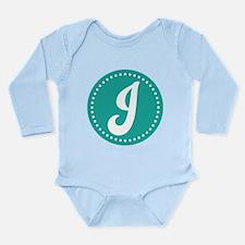 Letter J Long Sleeve Infant Bodysuit