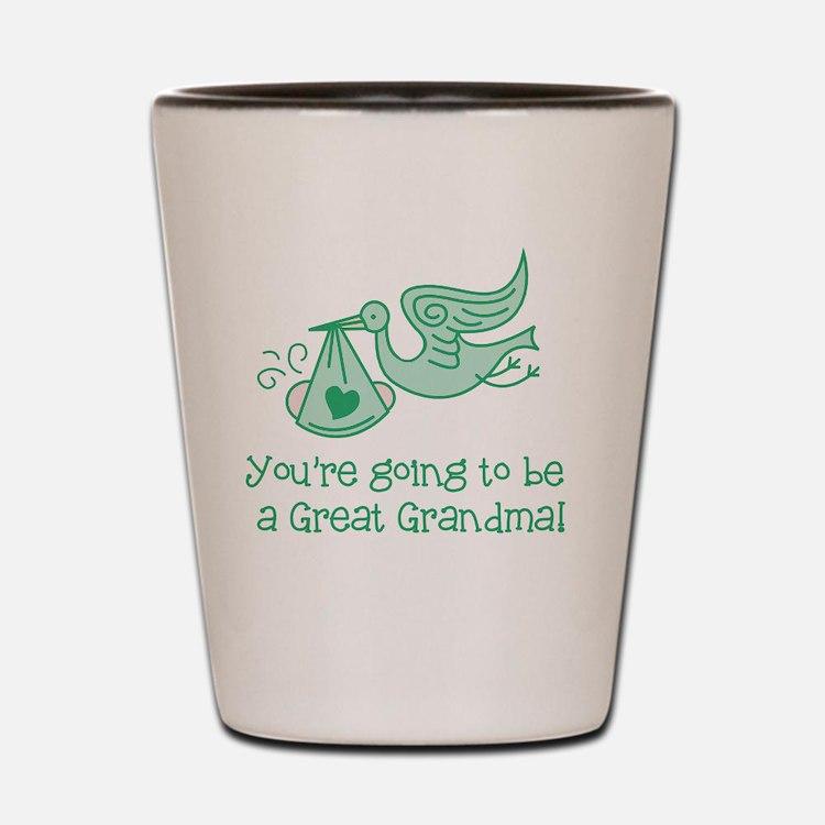 Cute Expecting grandma Shot Glass