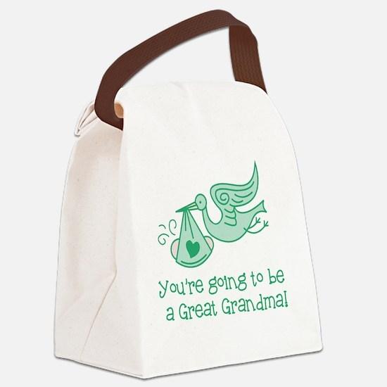Unique Expecting grandma Canvas Lunch Bag