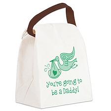 Cute Pregnant Canvas Lunch Bag