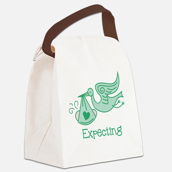 Cute Expecting grandma Canvas Lunch Bag