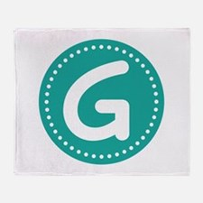 Letter G Throw Blanket