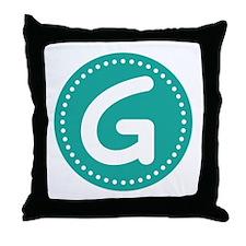 Letter G Throw Pillow