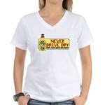 Never Drive Dry Women's V-Neck T-Shirt